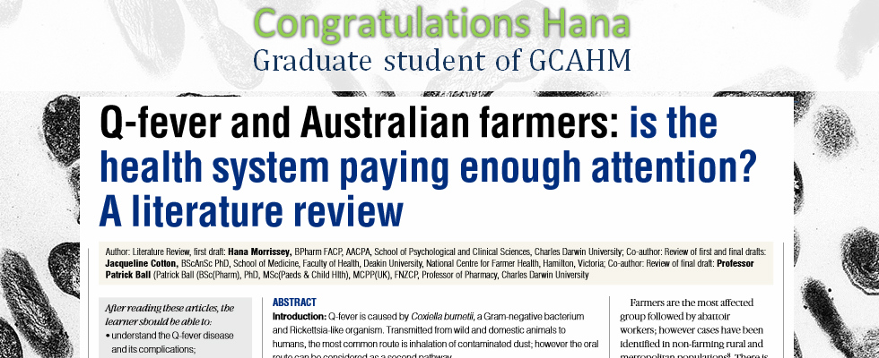 Q-fever and Australian farmers