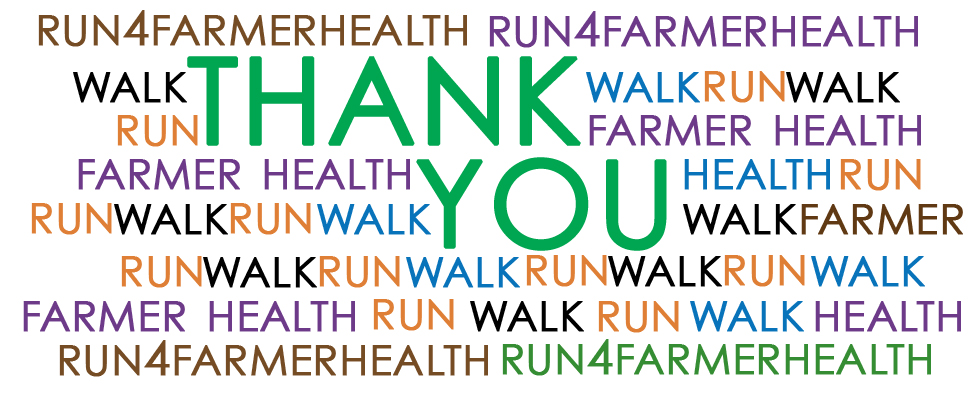 Thank you #run4farmerhealth!
