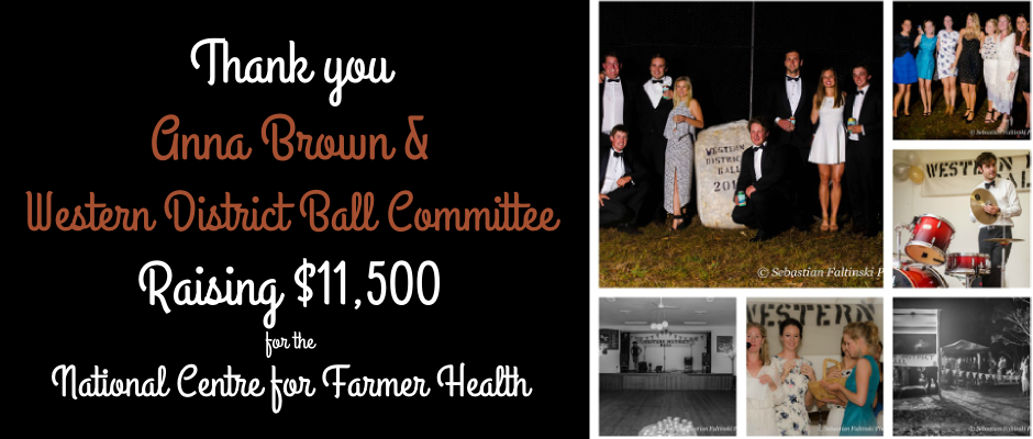Thank you Anna Brown and Western District Ball Committee