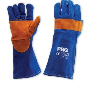 Welders Gloves Blue and Gold