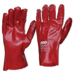Red PVC Gloves 27cm Length
